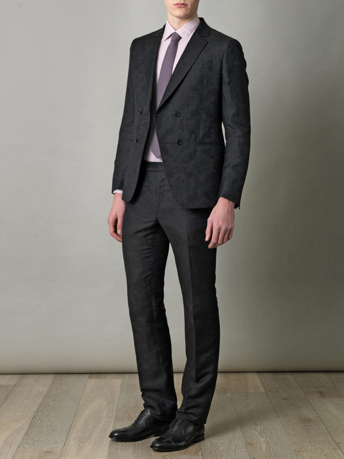 John Varvatos Double-breasted linen suit