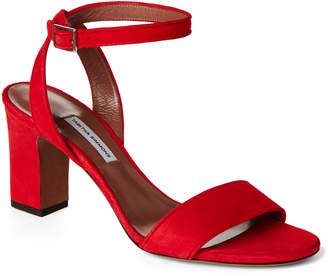 Tabitha Simmons Red Leticia Suede Ankle Strap Pumps