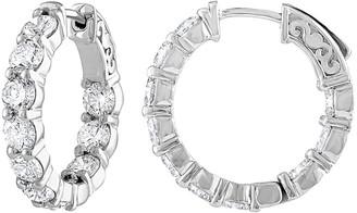 Diana M Fine Jewelry 18K 4.10 Ct. Tw. Diamond Hoop Earrings