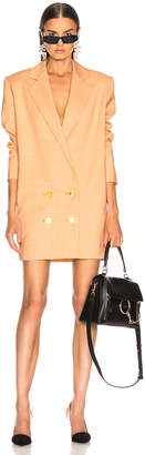 Carmen March CARMEN MARCH Blazer Dress in White & Yellow | FWRD