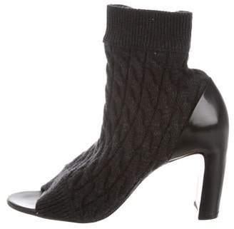 Maison Margiela Knit Peep-Toe Booties w/ Tags