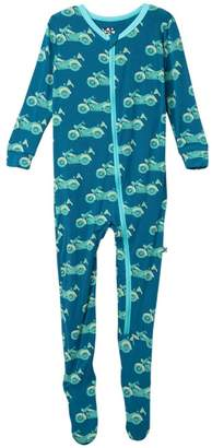 Kickee Pants Printed Zip Footie (Toddler & Little Boys)