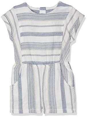 Mamas and Papas Baby Girls' Stripe Emb Romper
