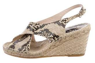 Diane von Furstenberg Embossed Wedge Sandals