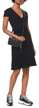 MICHAEL Michael Kors MICHAEL Stretch Knit V-Neck Dress