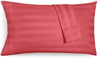 Charter Club CLOSEOUT! Damask Stripe Standard Pillowcase Set, 550 Thread Count 100% Supima Cotton, Created for Macy's