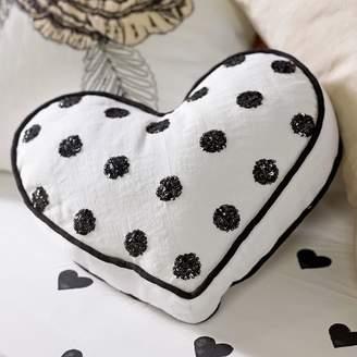 Pottery Barn Teen The Emily &amp Meritt Heart Sequin Pillow