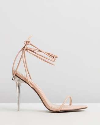 Missguided Skinny Strap Wrap Heels