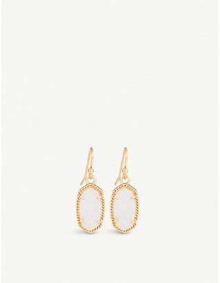 Kendra Scott Lee 14ct gold-plated and gemstone earrings