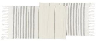 Now Designs Terra Stripe Ivory Table Runner