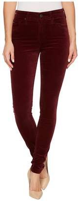 AG Adriano Goldschmied The Velvet Farrah Skinny in Deep Currant Women's Casual Pants