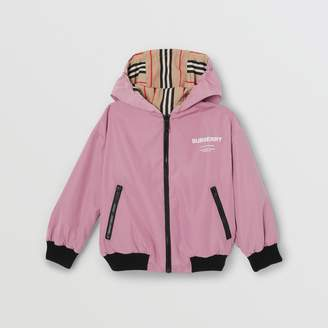 Burberry Reversible Icon Stripe Hooded Jacket