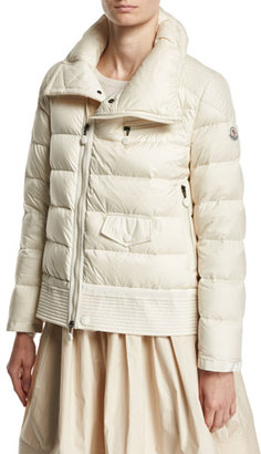 Moncler Margaret Quilted Puffer Jacket, Light Beige $1,440 thestylecure.com