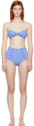 Lisa Marie Fernandez Blue Poppy Bikini