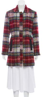 L'Agence Plaid Wool-Blend Coat