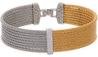 Alor Cable Stainless Steel & Diamond Two-ToneBangle