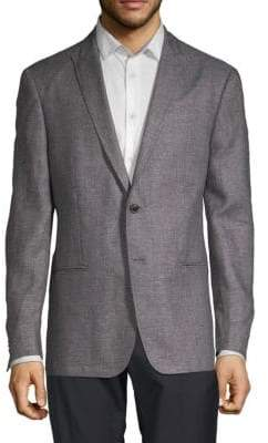 John Varvatos Basket Weave Linen & Wool Jacket