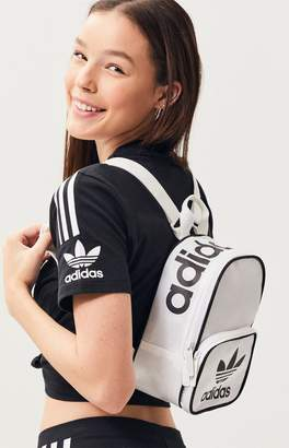 adidas White & Black Originals Santiago Mini Backpack