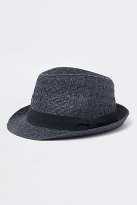 03ecf475f7d Next Mens River Island Navy Straw Trilby Hat