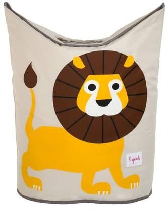 Lion Canvas Laundry Hamper