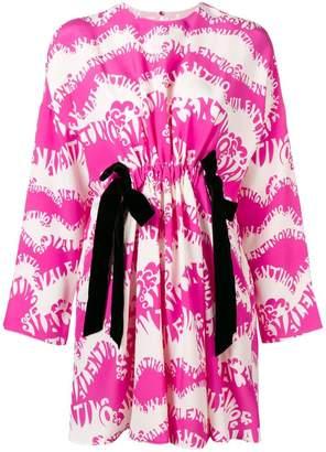 Valentino logo print mini dress