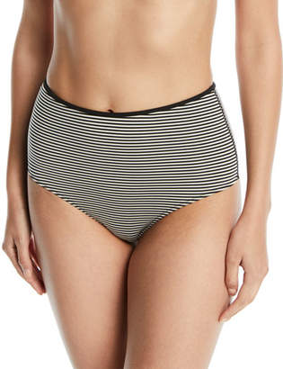 Marysia Swim Tarpum Bay Striped High-Waist Bikini Bottom