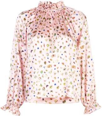 Cynthia Rowley penny ruffle sleeve blouse