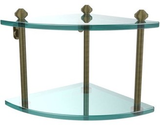 South Beach Allied Brass Southbeach Collection Two Tier Corner Glass Shelf (Build to Order)