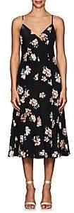 FiveSeventyFive Women's Floral Silk Crêpe De Chine Midi-Dress - Black