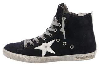 Golden Goose Suede High-Top Sneakers w/ Tags