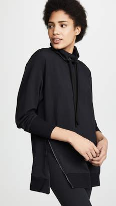 L'Agence Aspen Side Zip Sweatshirt