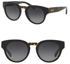 Ralph Lauren Ralph By Eyewear 50MM Round Tortoise Shell Sunglasses