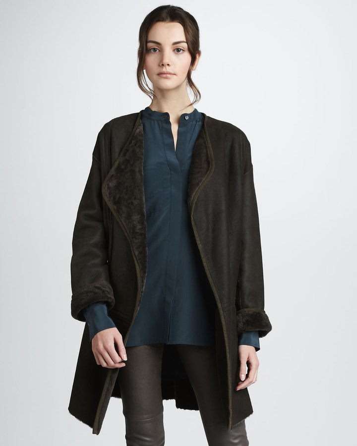 Vince Merino Wool Cardigan Coat