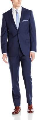 DKNY Men's Two Button Slim Fit Pinstripe Suit