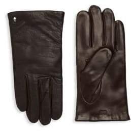 Roberto Cavalli Crocodile-Embossed Leather Gloves