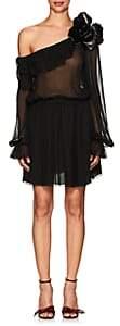 Saint Laurent WOMEN'S ONE-SHOULDER SILK DRESS