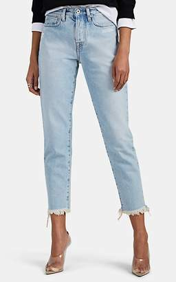Off-White Women's Mid-Rise Skinny Jeans - Blue