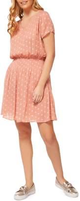 Dex Printed Blouson Dress