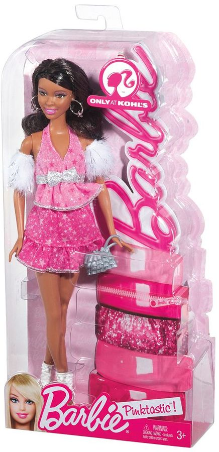Mattel Barbie Pink-Tastic Wavy Brunette Doll by