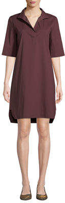 Lafayette 148 New York Kennet Short-Sleeve Stretch-Cotton Shirtdress