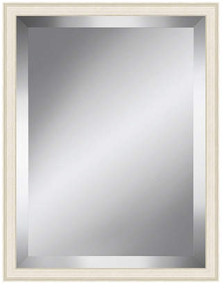 Asstd National Brand Off White Grain Effect Beveled Plate Mirror