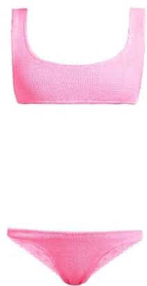 Reina Olga Ginny Scrunch Crinkle Bikini - Womens - Pink
