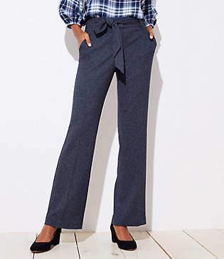 LOFT Petite Trousers in Speckled Tie Waist in Julie Fit