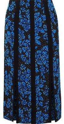 Diane von Furstenberg Floral-Print Cady Skirt