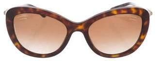 Chanel Pearl-Accented Polarized Sunglasses