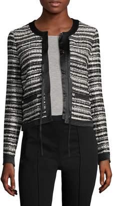 Roberto Cavalli Women's Striped Boucle Blazer