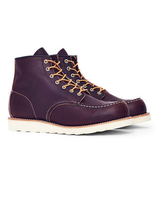 Red Wing Shoes 6-Inch Classic Moc Toe Leather Brown