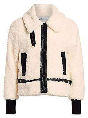 DH New York Women's Faux Shearling Moto Jacket