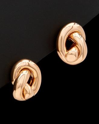 14K Italian Rose Gold Knot Earrings