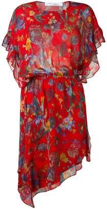 IRO floral print asymmetric dress